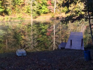 2015_Hidden Lake_October 17_Boat and Big Dock, mirror on lake