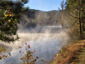 2015_Hidden Lake_October 17_Fog on lake looking tward store