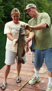 2016_Heathers big Catfish with Chris_July