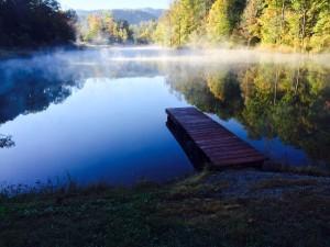 2015_Hidden Lake_October 17_Across Lake from Dock at Dam